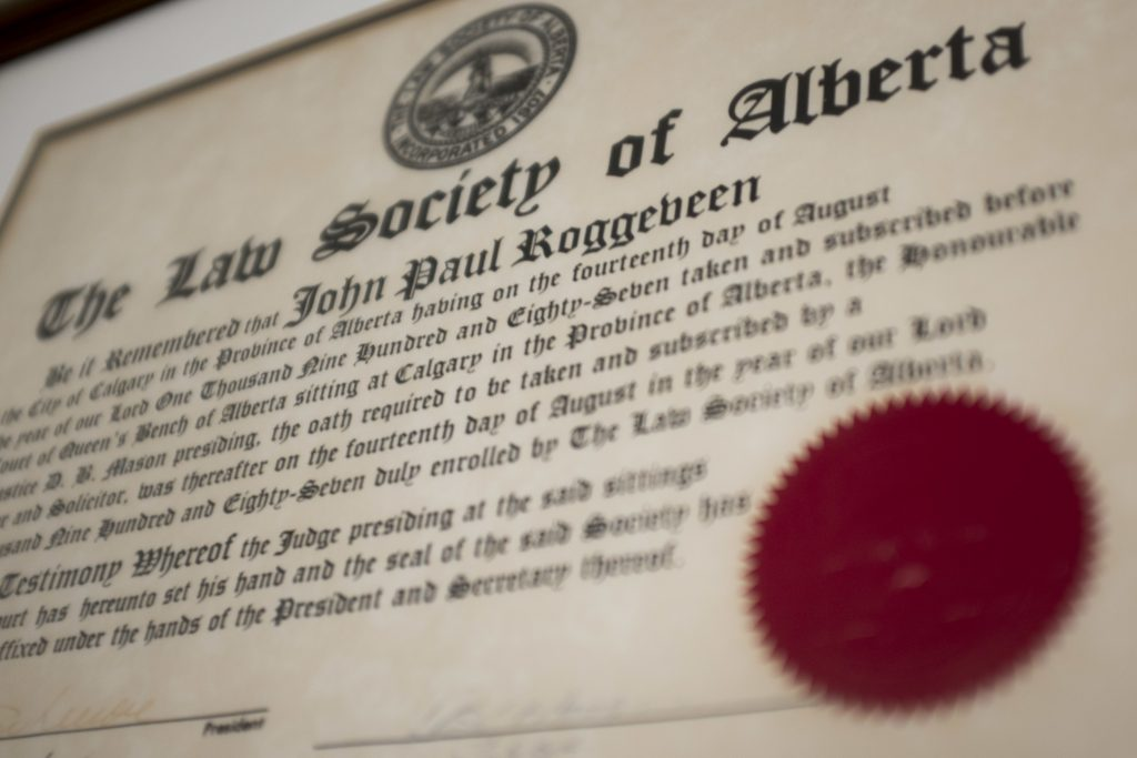 About yycLegal Law Society of Alberta Certification John P. Roggeveen
